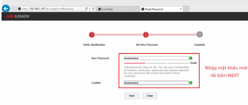 Khôi phục lại mật khẩu đầu ghi Hikvision bằng cách tự tạo file reset mật khẩu trên trình duyệt