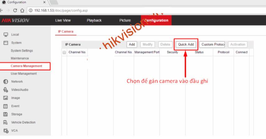 Hướng dẫn cài đặt hàng loạt thiết bị camera IP và đầu ghi hình Hikvision