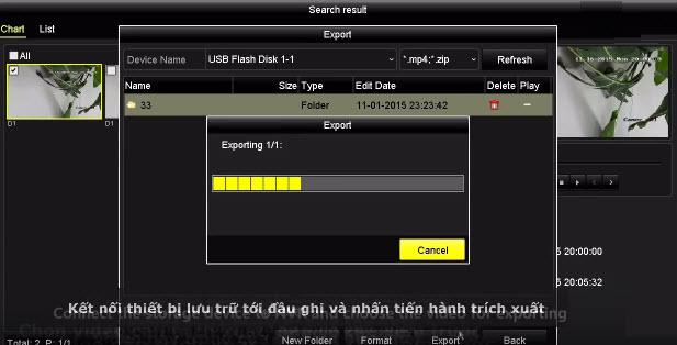 Trích xuất dữ liệu trên đầu ghi hình Hikvision